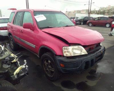 Salvage Red 2001 Honda Cr-v