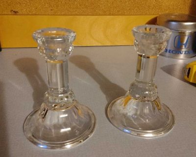 Fine Crystal candle stick holders