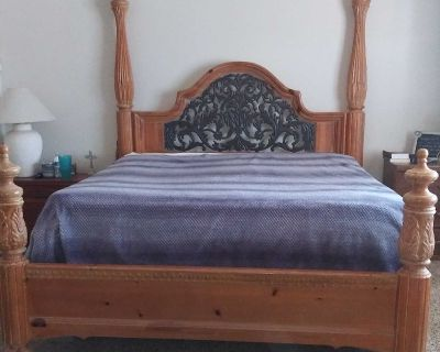 Cal king frame with firm mattress