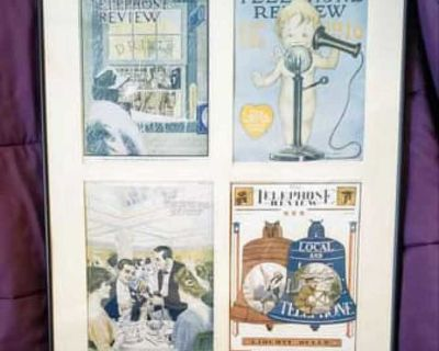 Telecom Nostalgia collage framed and matted picture