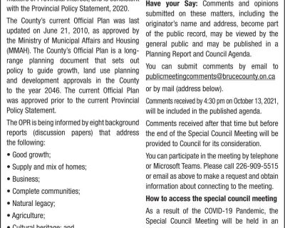 Notice of a Special Council Me...
