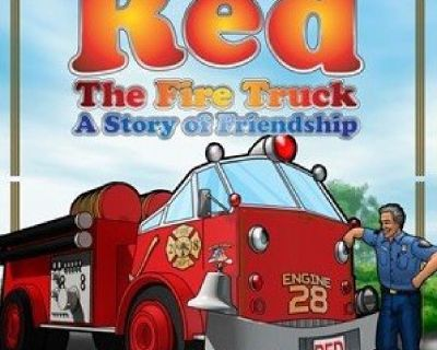 """""""Red the Fire Truck: A Story of Friendship"""" Children's Books"""