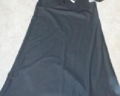 $220 OBO Women's Black/ Brown Washable 2-bottom Flower Pin Embellished Skirt Suit