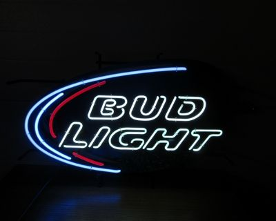 PRICE REDUCED!!!!! Bud Light Wave Board Neon Lighted Sign