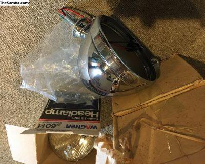 Chrome 7 headlights, NEW, buggy/kit car PERFECT