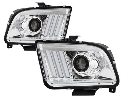 New S550-inspired Projector Headlights by Spyder for Ford Mustang