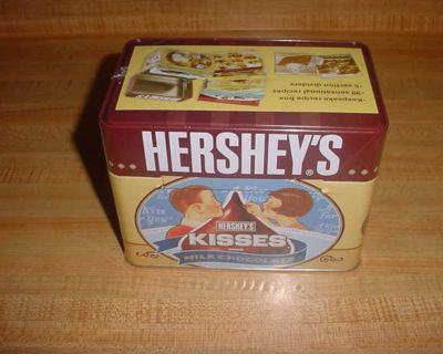 New Sealed Hershey's Chocolates Keepsake Tin Recipe Storage Box With Recipes. This Collectible Set Of Cards Includes 99 Recipes & 5...