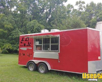 Turnkey 2018 WOW Cargo 7' x 16' Mobile Kitchen Food Trailer