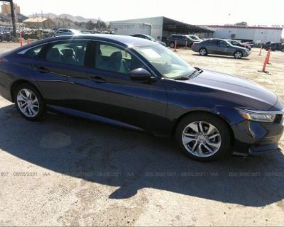 Salvage Blue 2018 Honda Accord Sedan