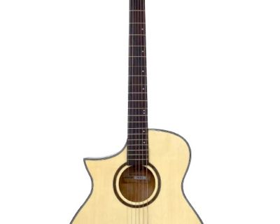 Left handed acoustic guitar cutaway full size Brand New