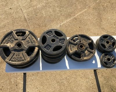 287.5 LBs of Weights & 2 Bars Price Firm See Details