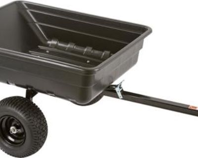10 Cu/ft Atv-garden Tractor-lawn Mower Yard Utility Dump Trailer Mulch Utv Cart