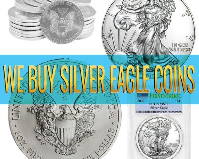 We Offer CASH for SILVER AMERICAN EAGLES