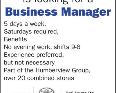Goderich Toyota is looking for...