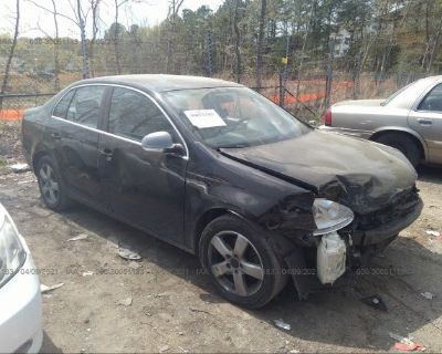 Salvage Black 2009 Volkswagen Jetta Sedan