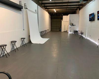 "Creative Style, ""20 ft LED White Wall"", Multi Purpose Production Studio, Atlanta, GA"