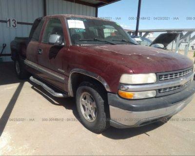 Salvage Maroon 2001 Chevrolet Silverado 1500
