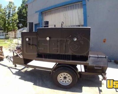 2011 3.5' x 8' Open BBQ Smoker Tailgating Trailer / Rust-Free Mobile BBQ Unit