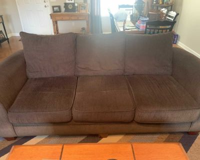 Couch and loveseat with ottoman, ppu