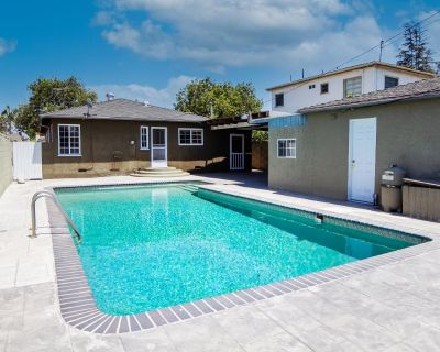 California Heights Sparkling Pool Home with Outdoor Entertaining Space