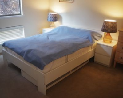 Queen bed, memory foam mattress, nightstands, lamps (also separately)