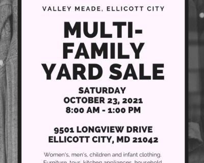 Multi-Family Yard Sale (Furniture, Clothing, Toys, Household Items, & More)