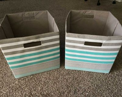 Collapsible Fabric Storage Cube Organizers