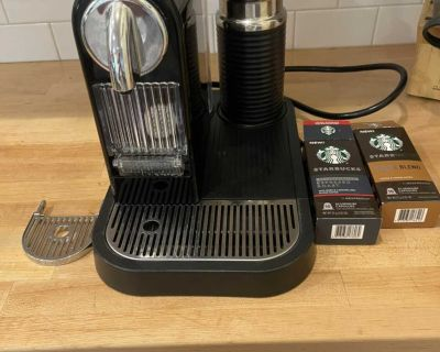 Nespresso + frother and pods