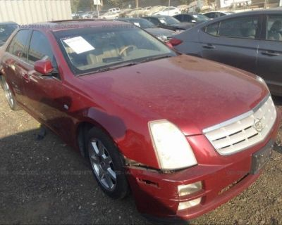 Salvage Red 2005 Cadillac Sts