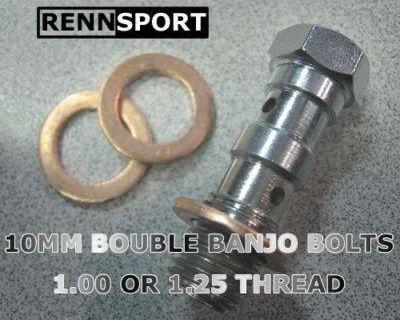 10mm Double Banjo Bolt - 10mm X 1.25 Thread Size