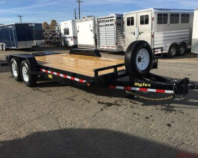 Tandem Axle Equipment Trailer, Utility Trailer, Big Tex Trailers 14ET-20 with Monster Ramps(MR)