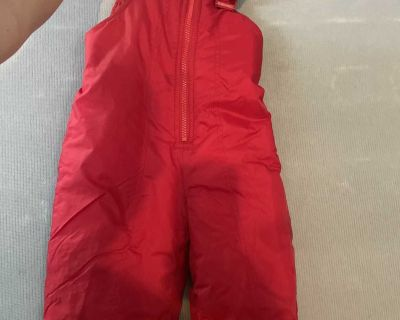 2t snow pants red