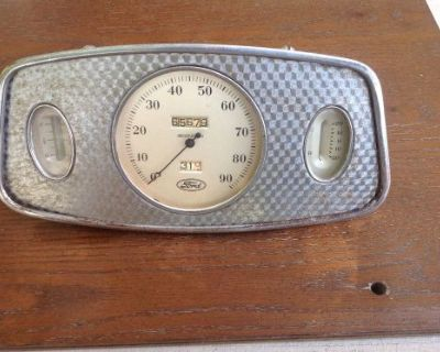 1933 Ford Gauge Panel Speedometer, Amp Gauge, Fuel Gauge