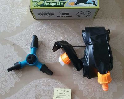 Trampoline Water Sprinkler for Kids with Rotating Sprinkle ( NOTE CROSSPOSTED)