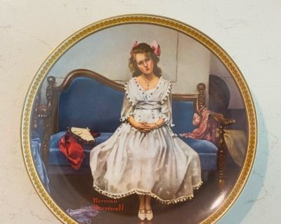 Collectible - Norman Rockwell Waiting at the Dance Vintage Plate