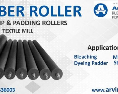 Remarkable Textile Rubber Roller in India