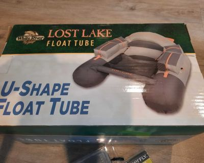 NEW Lost Lake Float Tube/ Belly boat and Premium Flies Assortment with additional case