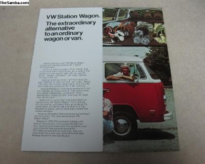 1977 VW Station Wagon sales folder brochure sheet