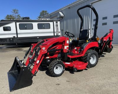 2020 T224 TYM Hydrostatic Tractor w/Loader/Industrial Tires/Backhoe/Mower