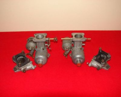 Original Austin Healey 100m Carburetors And Manifolds - 1 Carb Body Is # Correct