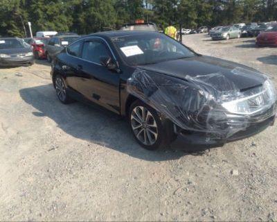 Salvage Black 2009 Honda Accord Cpe