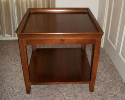 End Table 25, Top is 25 1/2 Inch by 25 1/2 Inch by 24 Inch Tall