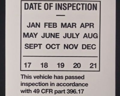 New DOT Inspection Stickers for Semi Trailers