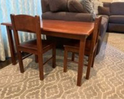 Kidcraft Cherry stained wood table set