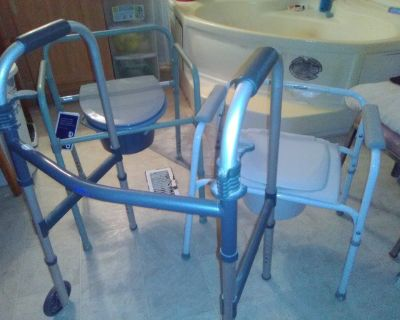 Two potty chairs and one Walker barely used $100 for all three