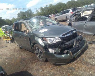 Salvage Green 2017 Subaru Forester