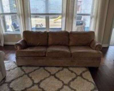 Leather Couch by Ethan Allen