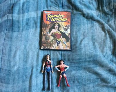 Lot Of Wonder Woman DVD And Toys