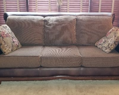 Couch and Loveseat Set With Pillows