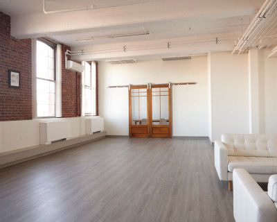 Photo/Video Studio with Exposed Brick Wall, NEWTONVILLE, MA